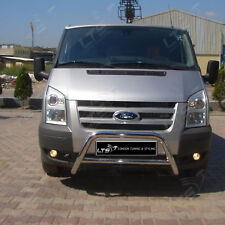 FORD TRANSIT CHROME NUDGE A-BAR STAINLESS STEEL BULL BAR 2003- 2013 W K