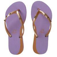 Women Purple Flip-Flops Thong Flats Sandals Beach Casual Toe Slippers - NEW