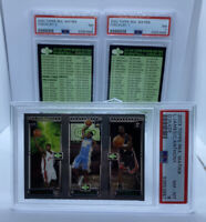 2003 Topps Rookie Matrix LeBron James | C. Anthony | Dwyane Wade RC PSA 8 MINT