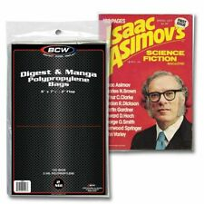 10 100 200 500 BCW Digest & Manga Poly Bags Acid Free Safe Storage Holders 2 Mil