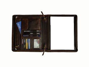 Buffalo Leather Portfolio A4 Folder Executive Business Organizer Bag Padfolio