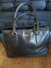 Coach 24201 Candace Legacy Black Leather Carryall Tote Bag Satchel