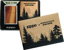 Zippo Feuerzeug Woodchuck Brushed Chrome
