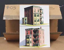 Ed Fulasz 03 HO 3 Story Tenement to Let Craftsman Kit Hydrocal Wood  NIB