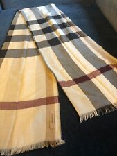 Burberry Lightweight Check Wool and Silk Scarf, Color Stone