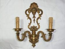 Große Wandlampe aus Frankreich,massiv Bronze markiert