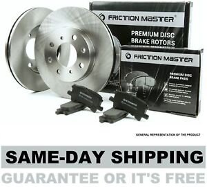 Rear Brake Rotors and Metallic Pads fits 2007 2008 2009 2010 FORD EDGE