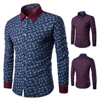 Men's Luxury Long Sleeve Slim Fit Casual Shirt Stylish Formal Dress Shirt Tops