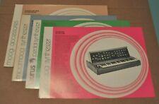 Moog sheets Minimoog, Micromoog, Taurus, Accessories vintage catalog sheets.1976