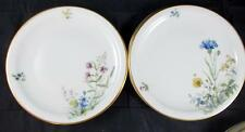 Franconia MEADOW FLOWERS 4 Salad Plates Scenes A & F  LIGHT SCRATCHES