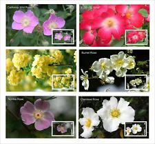 2010 ROSES PLANTS 6 SOUVENIR SHEETS MNH UNPERFORATED