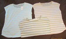 GROUP OF 3 CATO HI-LO TOPS SIZE LARGE CAP SLEEVES, ROUND NECKLINE, ONE IS NWT