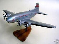 B307 TWA Boeing 307 Airplane Mahogany Kiln Dry Wood Model Large New