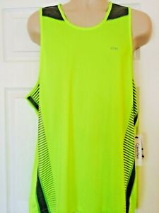 NWT Mens XL CALVIN KLEIN, athletic sleeveless, neon green and gray top