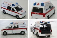 1/32 Scale Ambulance Medical Diecast White Vehicles Car Light Sound Pull Back