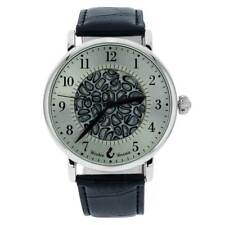 GlassOfVenice Murano Glass Men's Millefiori Watch With Leather Band - Black