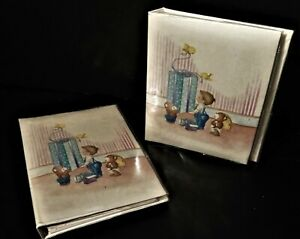 Lot of 2 Photo Albums, Cream Baby book by Pioneer,  holds 36 4x6 ea. NEW !