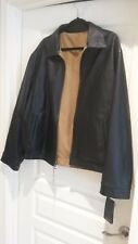 Roundtree and Yorke Men's Black Lined Genuine Lambskin Leather Jacket XL