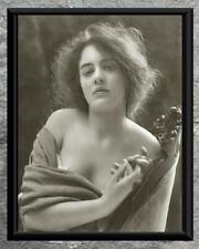 Stunning... Beautiful Women, Bare Shoulders Portrait . Antique 8x10 Photo Print