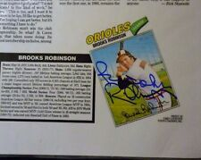 Baltimore O's HOF Member Brooks Robinson Auto Topps Card on Magazine page Signed