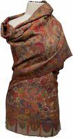 Kani Schal Beige sehr fein gewebt , 100%Wolle  wool scarf ècharpe foulard scarf