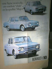 DEPLIANT /AFFICHE PRESENTATION RENAULT 10 MAJOR  : sept 1965