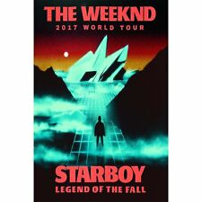 1267D New The Weeknd 2017 World Tour Starboy Music-Print Art Silk Poster