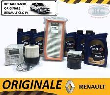 KIT TAGLIANDO OLIO ELF 5W30 + 3 FILTRI ORIGINALE RENAULT CLIO IV 1.5 DCI