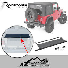 Rampage Tailgate Bar with Tonneau 87-06 Jeep Wrangler YJ TJ LJ 77015 Black Denim