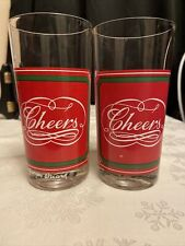 Set of 2 rare Georges Briard Cheers glasses