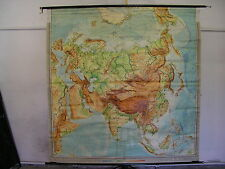 Scheda crocifissi Muro Carta schulkarte Asia Asia Cina 1958 Roll carta 207x210 Map