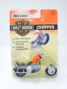 1993 Matchbox Harley Davison Chopper - Orange - NEW