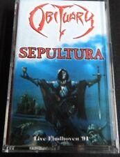 OBITUARY / SEPULTURA - Live Eindhoven '91. Split Tape.