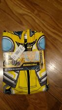 Transformers Bumble Bee Boys 1pc Yellow Union Suit Size L Large New NWT