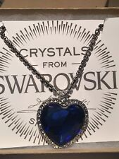 Heart of The Ocean Necklace 18k ep and Swarovski Crystal Element Deep Blue 056