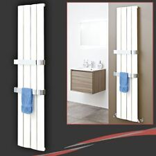 "375mm(w) x 1800mm(h) ""Wave"" White Vertical Aluminium Radiator - 2475 BTUs"