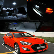 13-14 Genesis Coupe Interior Xenon White LED Light Bulb FULL PACKAGE (8 Pieces)