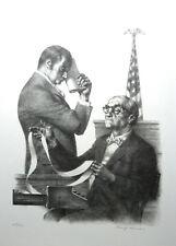 Joseph Hirsch -  Legal Lithographs - Pencil signed - Stenographer -Courtroom