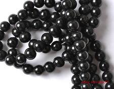 1000pcs black glass round loose Spacer Beads 6mm SH342