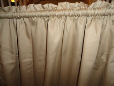 """Two Light Tan or Beige Drapery Panels, each is 39"""" wide and 6'9"""" long"""