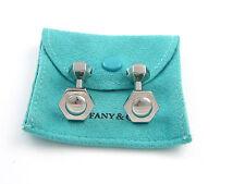 Tiffany & Co RARE Picasso Stainless Steel Hexagon Cuff Link Cufflink Cufflinks!