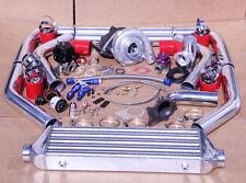 Jdm Universal T3t4 Turbo Kit Turbochargerintercoolerwastegatebovboost Gauge