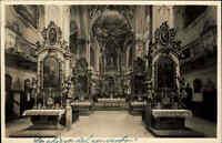 Andechs Bayern alte Ansichtskarte ~1920/30 Innenansicht der Klosterkirche Kirche