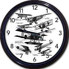 "Vintage Airplane Wall Clock Longster Harlequin Corben Pientenpoil Ace Pilot 10"""