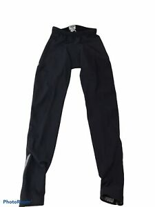 Pearl Izumi Therma Fleece Cycling Pants size Small Black Full Length Zip Ankles