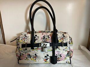 Disney Mickey & Minnie Mouse Satchel Purse Cartoon Print Disney Purse Animations