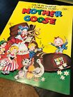 Vintage Color By Number with Complete Story of Mother Goose Coloring Book