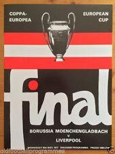 European Cup Liverpool Teams L-N Final Football Programmes