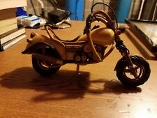"""Harley Davidson Feature Custom Made Wood Model Motorcycle 11"""" Hand-made"""
