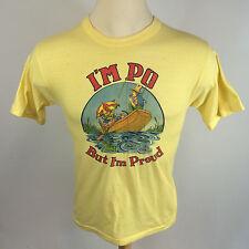 Vintage I'm Po' but i'm Proud 1970's Fishing T Shirt Restaurant Food Seafood L/M